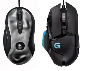 Image comparison of two logitech mice