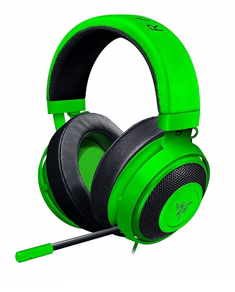 Image of the new Razer Kraken Tournament edition in green