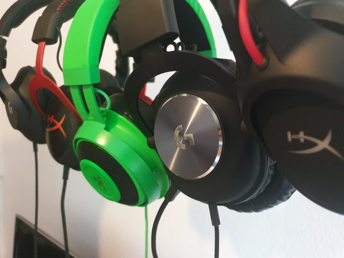 Image of a lot of gaming headsets