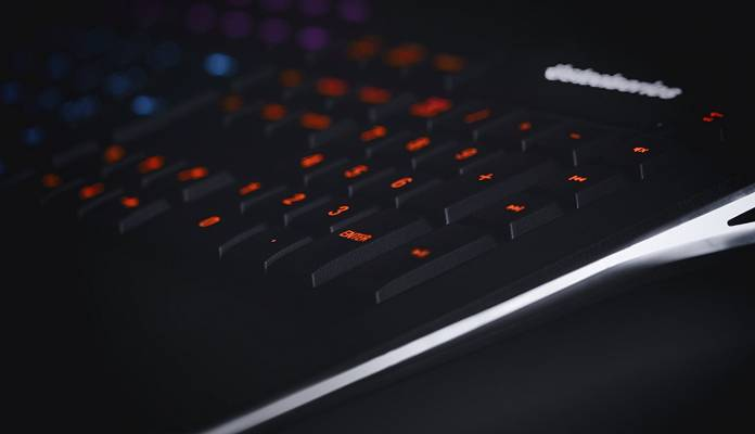 Image of backlit Led gamer keyboard