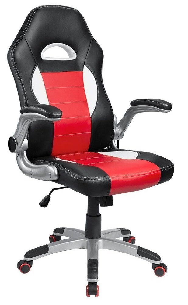 Image of red and black Homall ergonomic budget chair