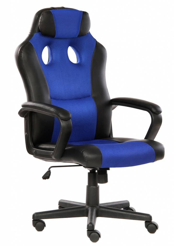 Image of black and blue office chair from Seatzone
