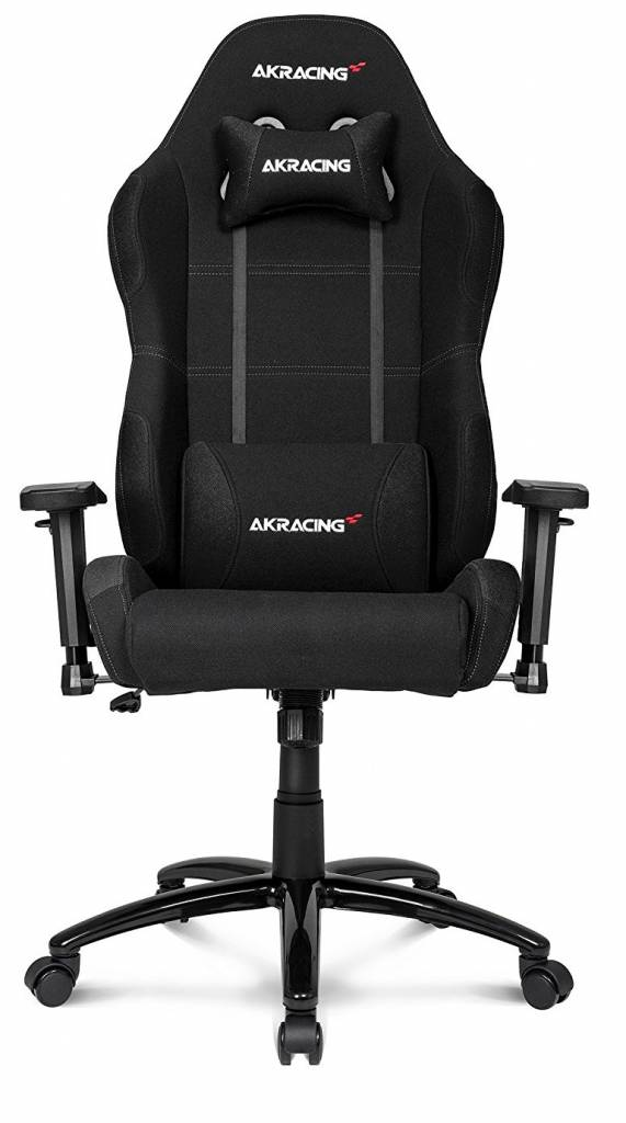 Black and grey racing chair from Akracing