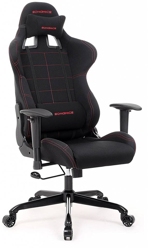 Image of black and red gaming chair from Songmics