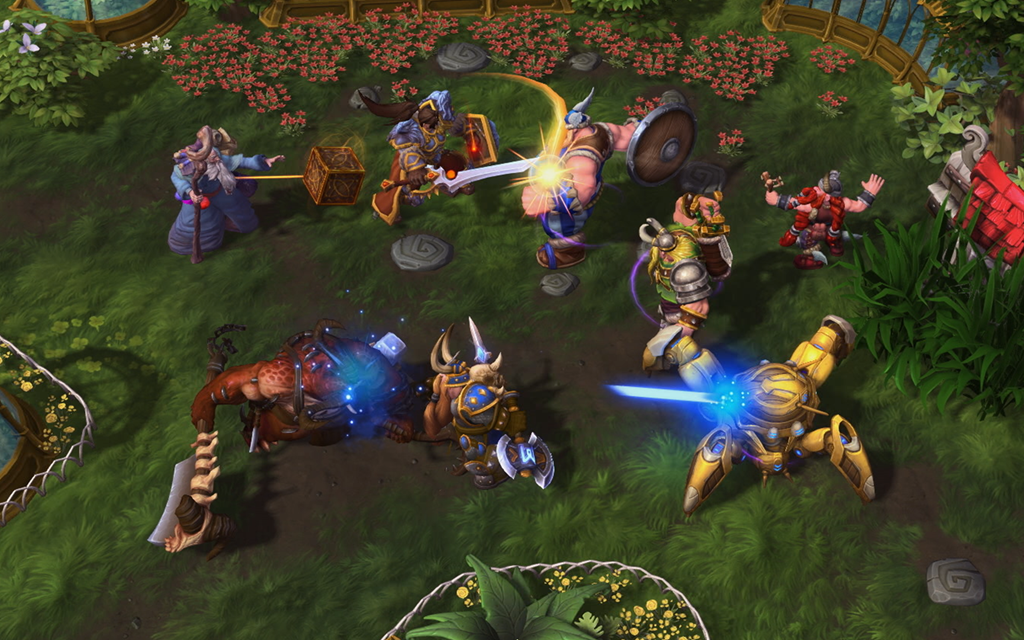 In-game screenshot of a teamfight