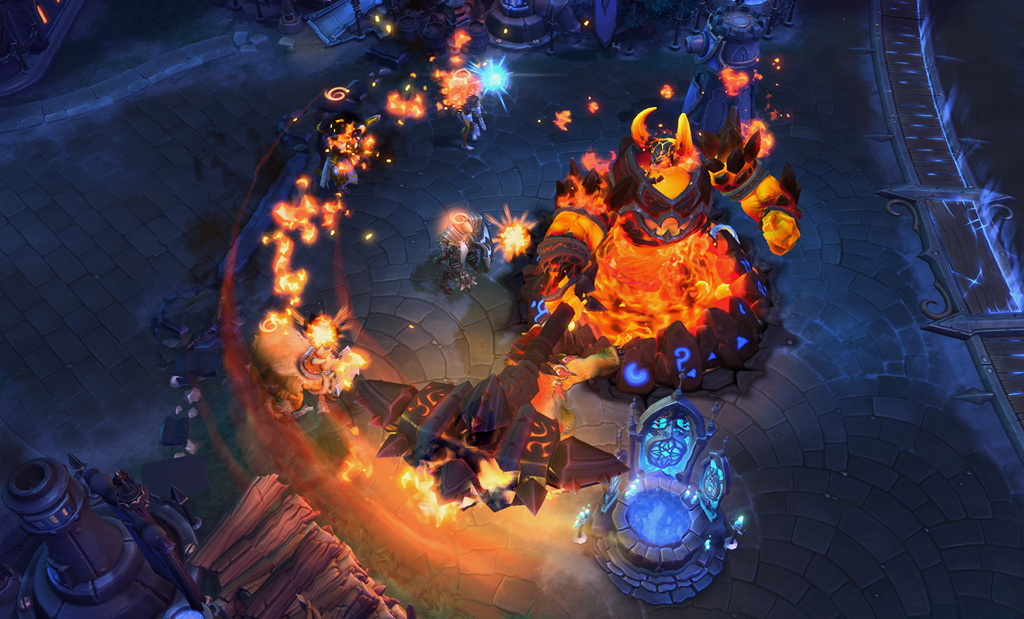 In-game image of Ragnaros in hots