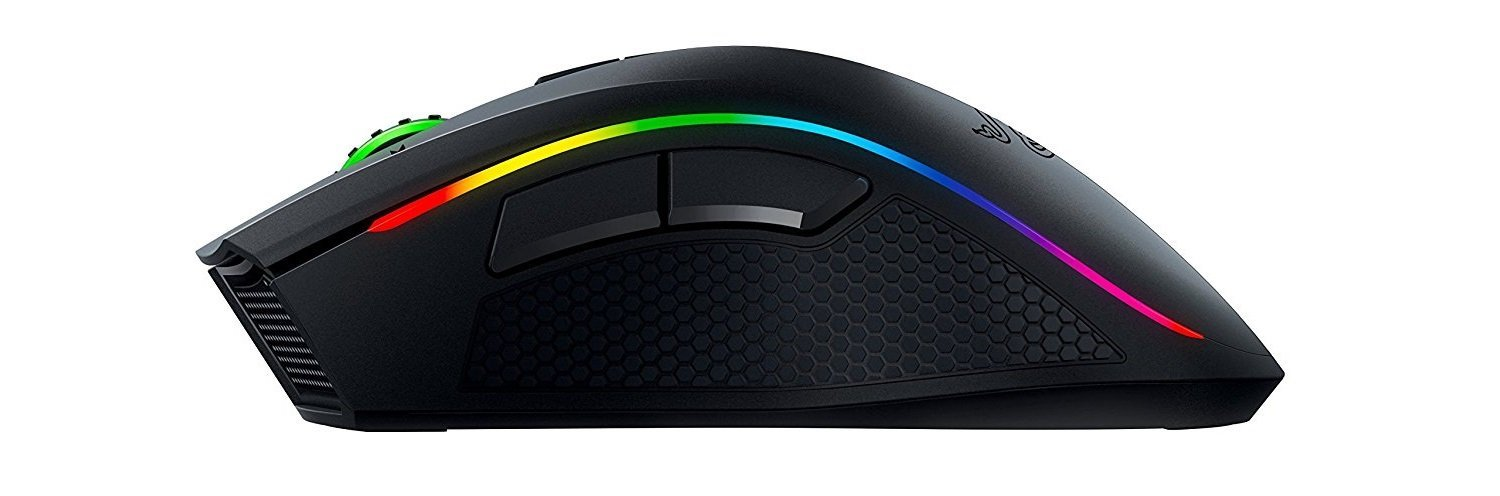 Picture of the wireless version of the Razer Mamba gaming mouse