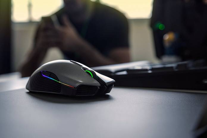 Image of wireless gaming mouse for PC use