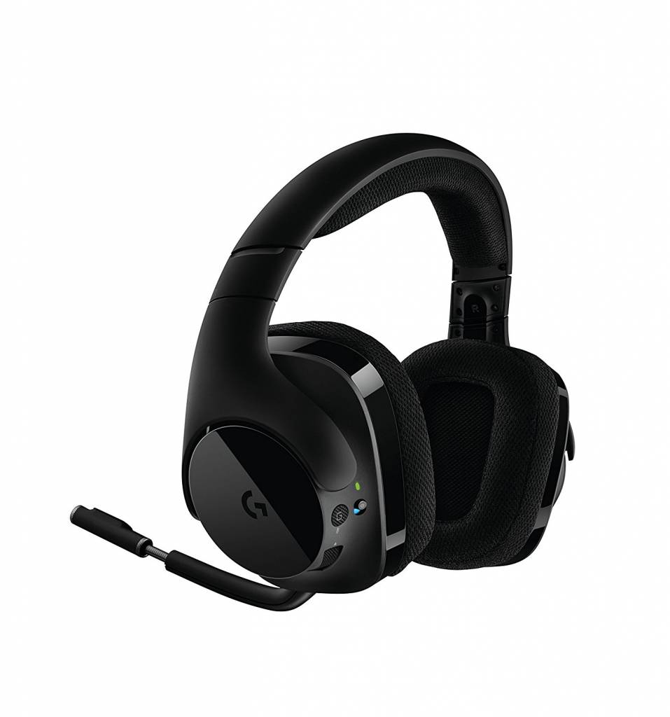 Image of wireless Logitech headset