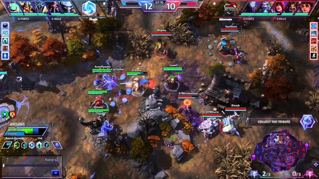 Image of professional heroes of the storm match