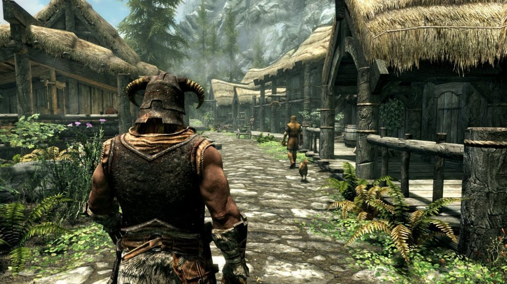 In-game screenshot from Skyrim remastered
