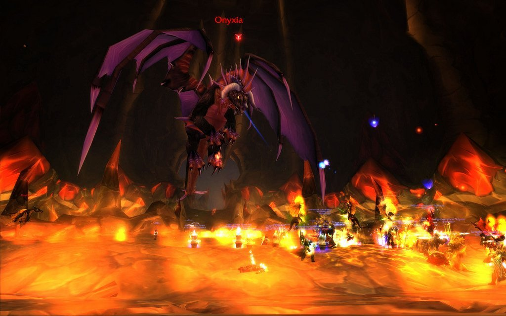 Wow screenshot of Onyxia raid boss fight