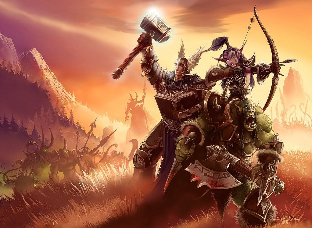 Warcraft wallpaper showing 3 heroes