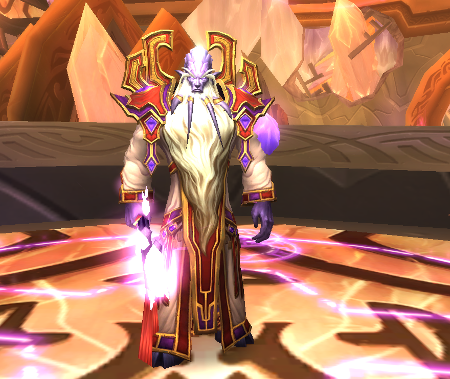 Screenshot of prophet Velen in wow
