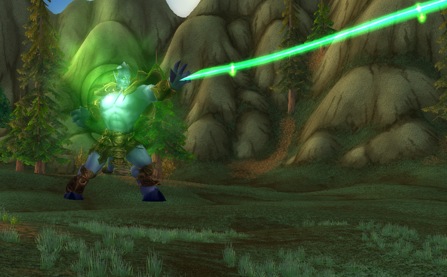 Screenshot of raid boss in world of warcraft