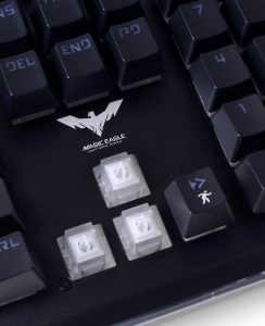 Image of mecha-membrane keyboard switches