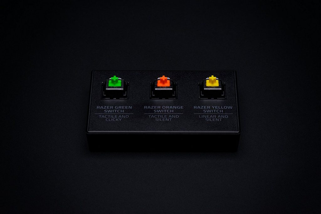 Image of the different Razer mechanical switches