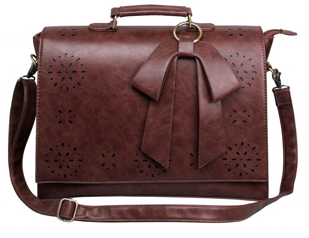 Image of brown briefcase for women