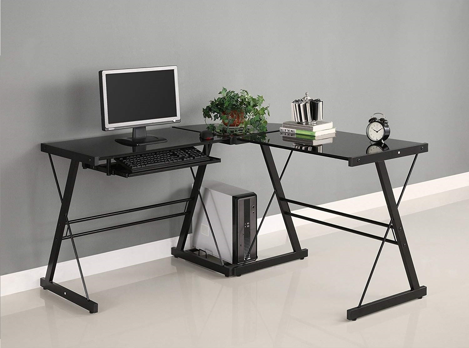 Image of L-shaped walker edison computer table