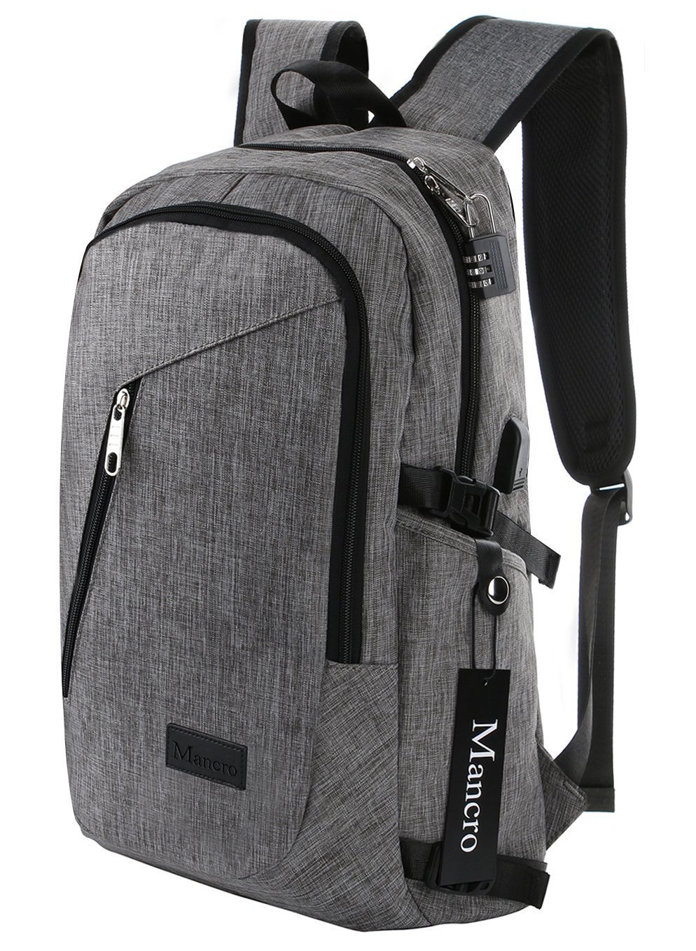 Image Of Grey Pc Backpack