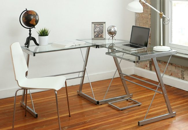 ... Office Desk; Image Of The Table In White Version