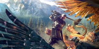 Image of in-game monster fight in the witcher
