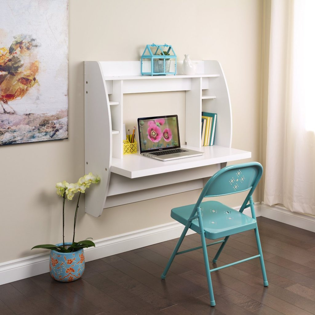 Image of table attached to wall