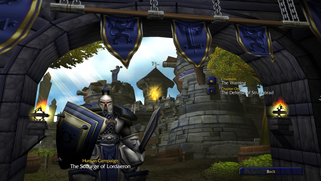 Screenshot from Warcraft 3 campaign