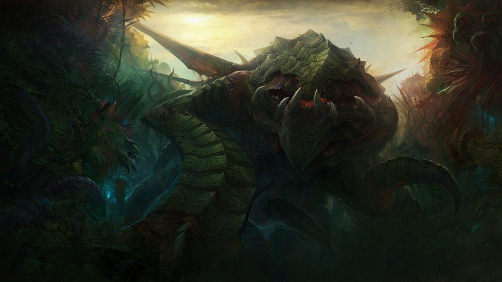 Image of Zurvan, the primal zerg from Starcraft 2