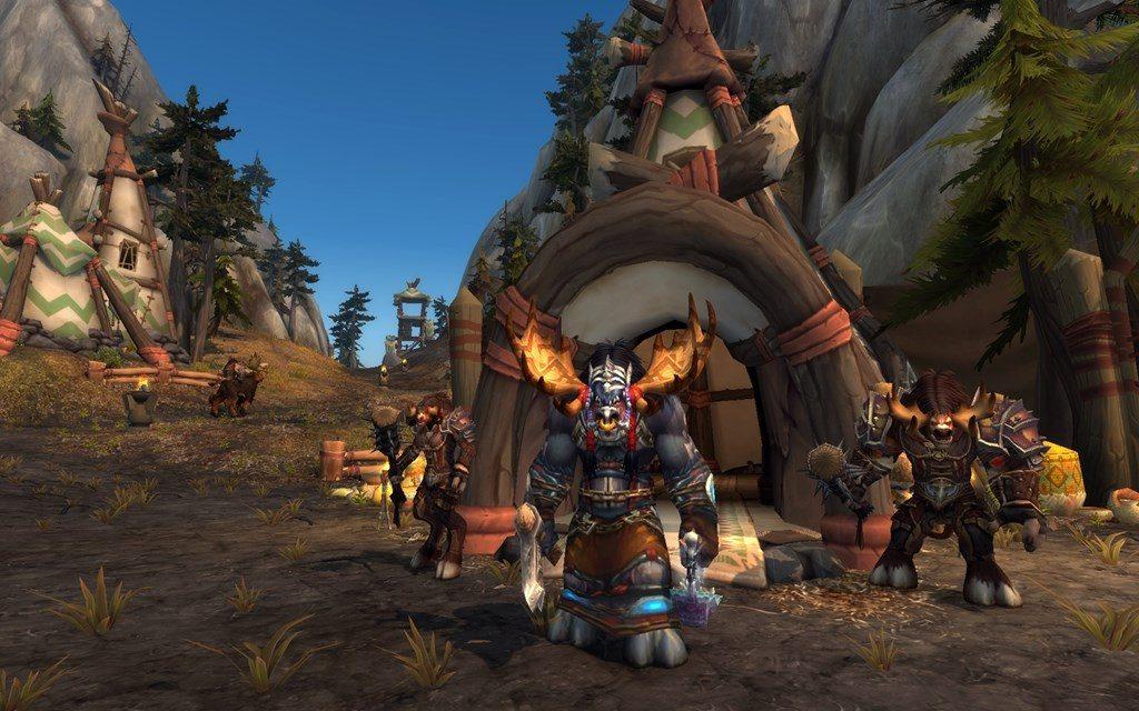 In-game screenshot in wow of Highmountain