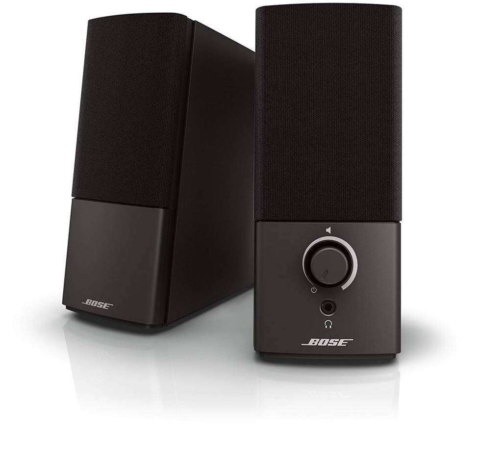 Image of black Bose speakers for under 100 dollars