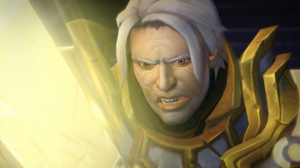 Picture of Human paladin in world of warcraft