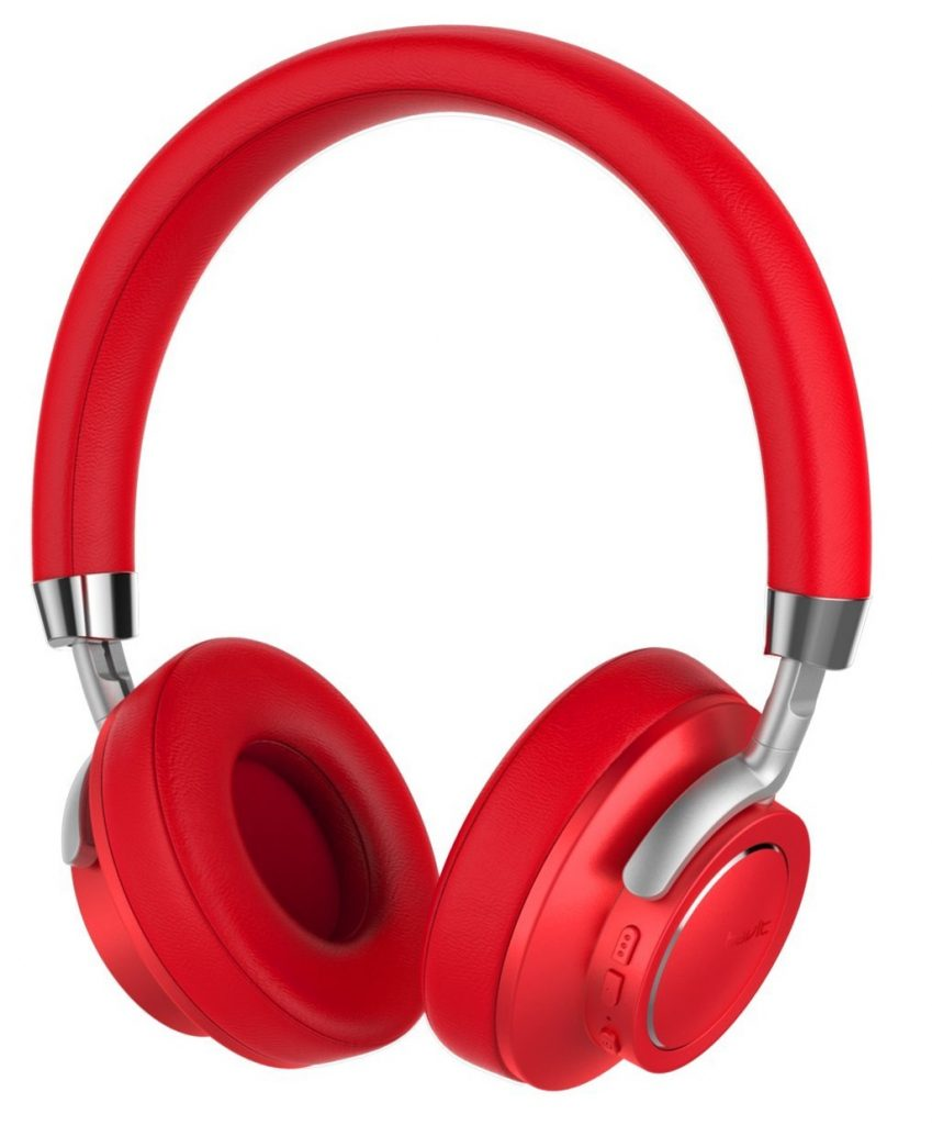 Image of red Bluetooth headphones from Havit