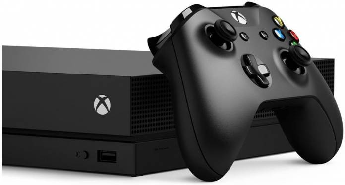 Image of Xbox One X console
