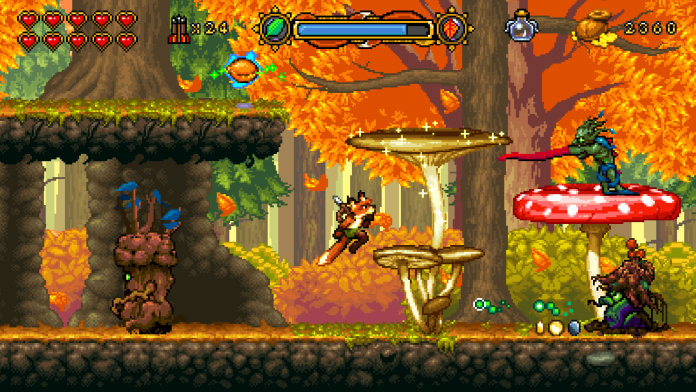 Screenshot from the new platformer Fox n forests