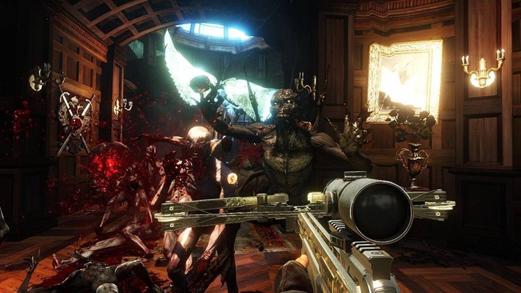 Screenshot of player using crossbow in Killing Floor 2