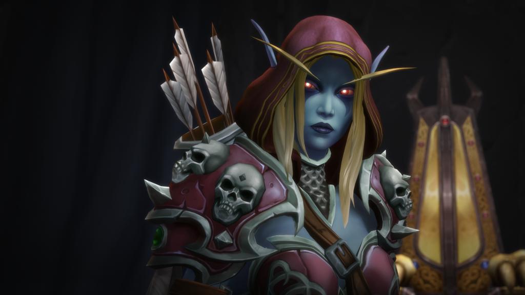 Screenshot from Battle for Azeroth of Sylvanas Windrunner