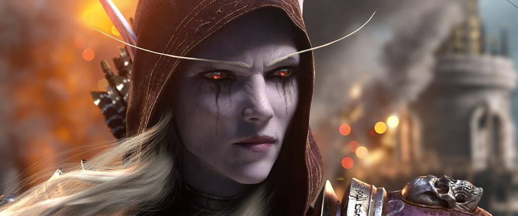 Close up of Sylvanas from the Battle for Azeroth Cinematic