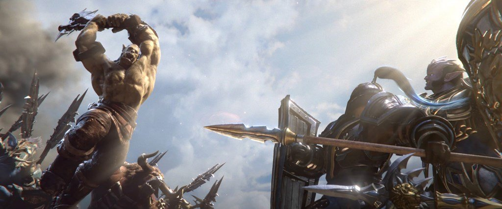 Image of footman and grunt fighting in Warcraft