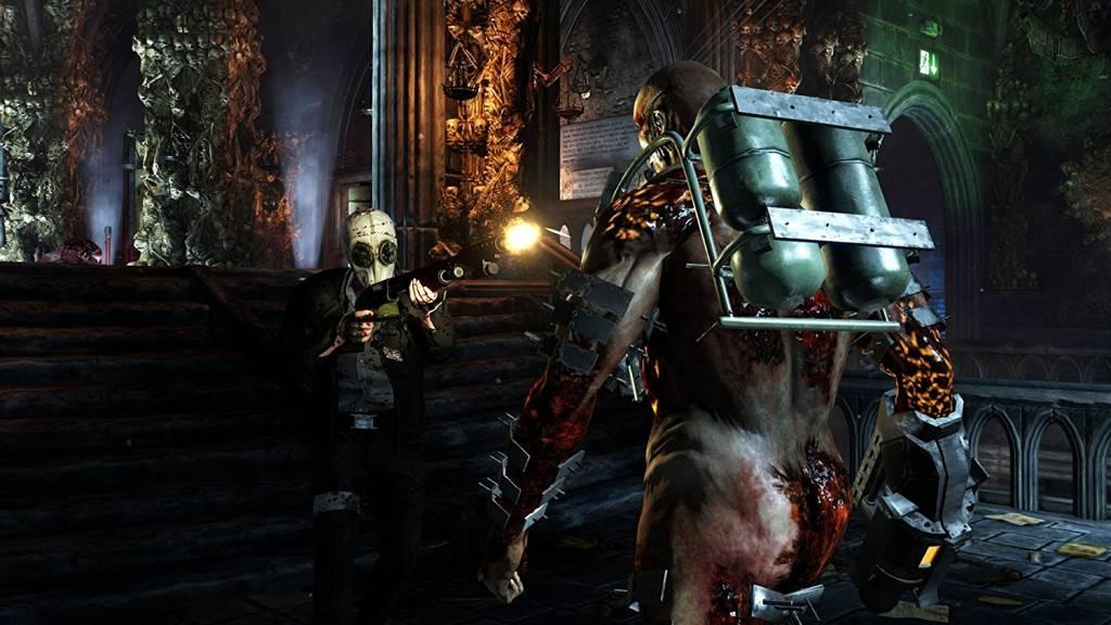 Guy shooting at zombie in Killing floor 2