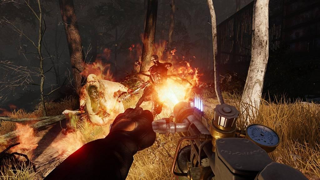 Screenshot of player using flamethrower in killing floor 2