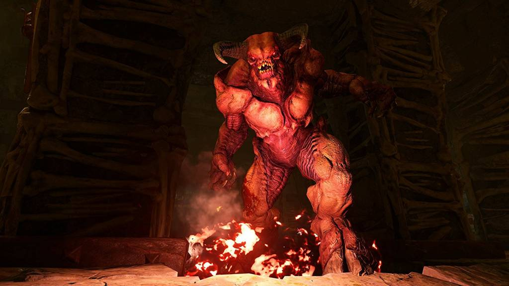 Picture of red demon boss in Doom