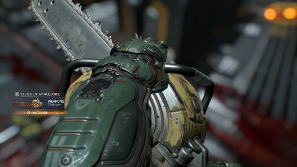 In-game screenshot from Doom of the doomsaw