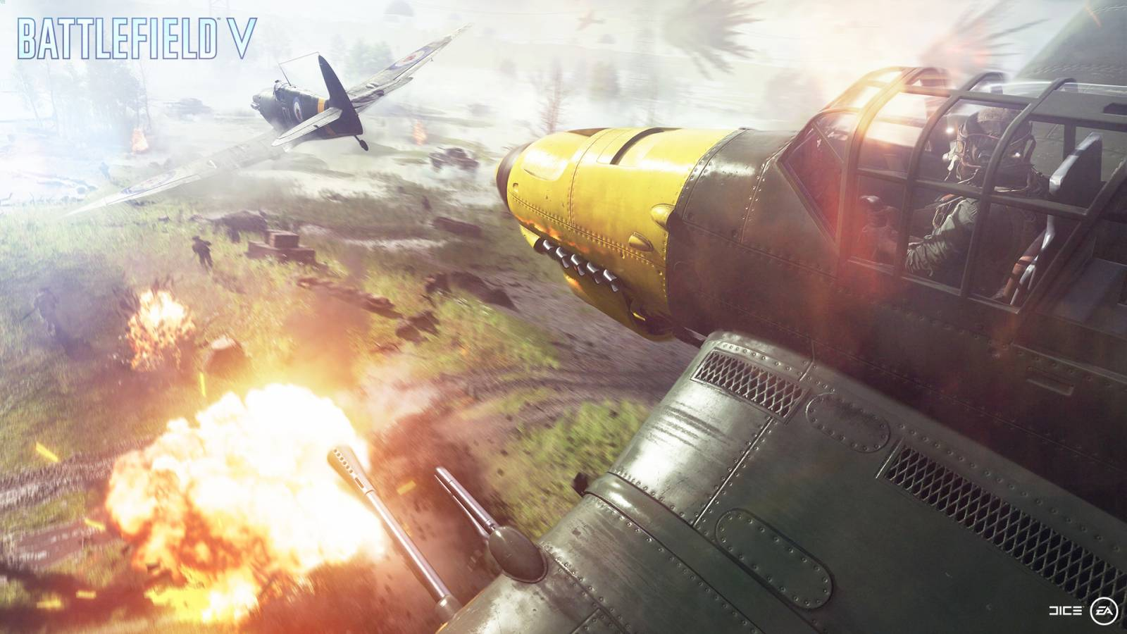 Image of two airplanes in Battlefield 5