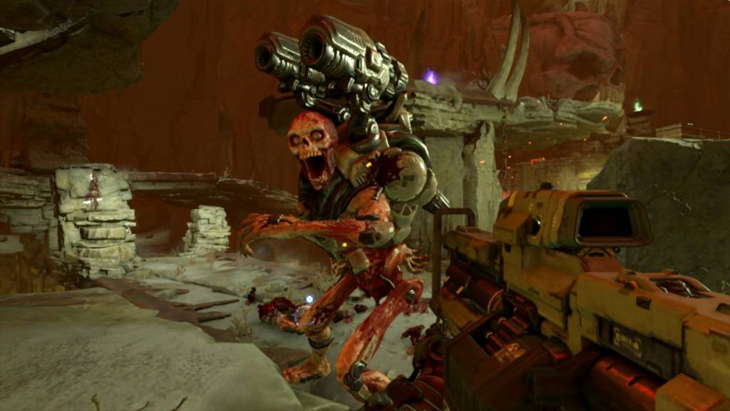 Screenshot from Doom on Nintendo switch