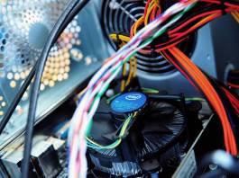 Image of CPU and GPU inside a computer