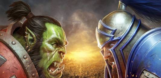 Battle for Azeroth Wallpaper of orc versus human