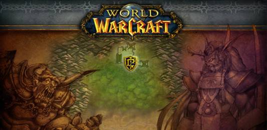 Official loading screen art for Warsong Gulch in Warcraft