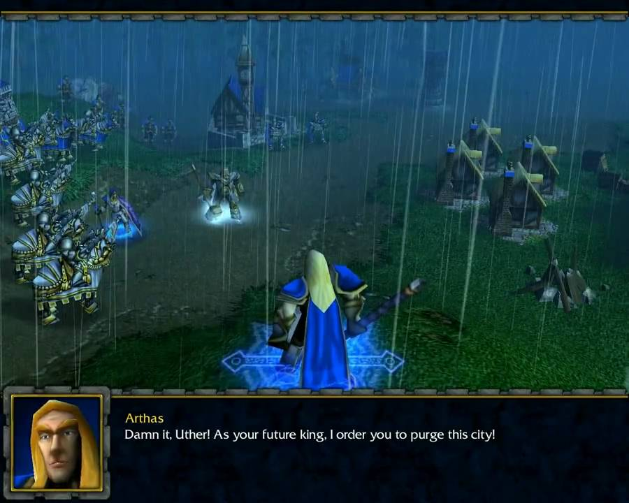 Screenshot from the Warcraft 3 human compaign