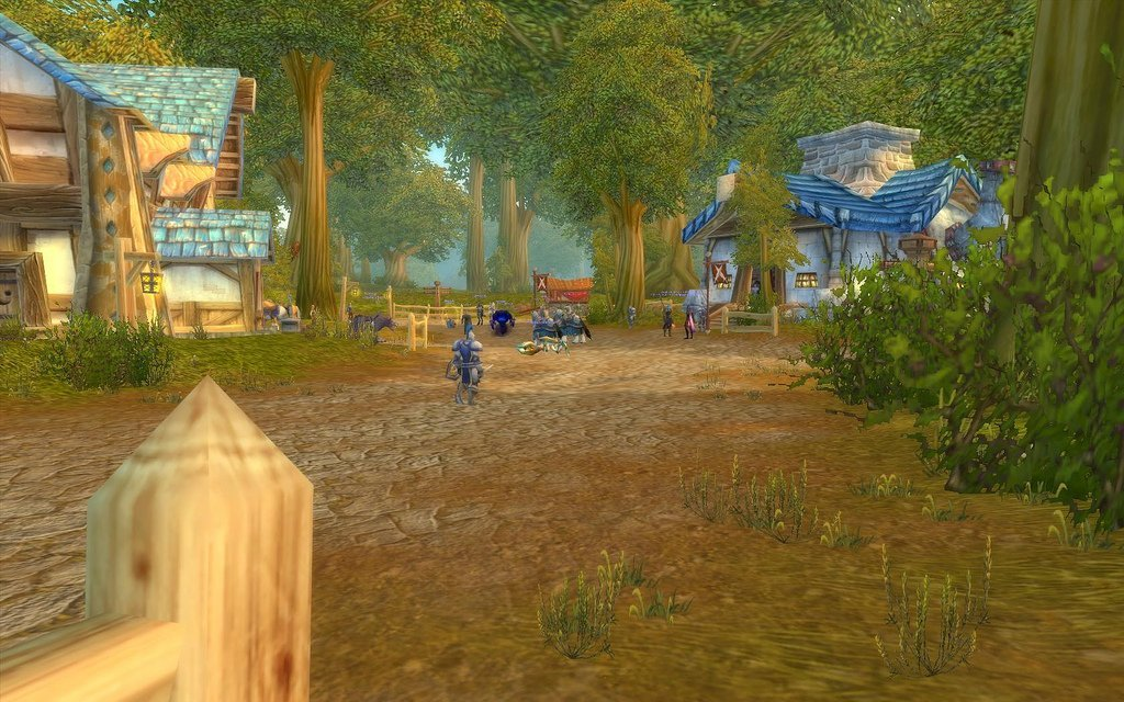 In-game screenshot from Elwynn Forest in wow
